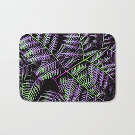 Purple & Green Bracken Bath Mat