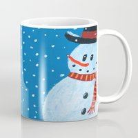 snowman Mugs featuring Snowman by gretzky