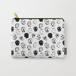 Skull Stamp Print Carry-All Pouch