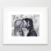 captain swan Framed Art Prints featuring Captain Swan by Big Beautiful Blue Eyes