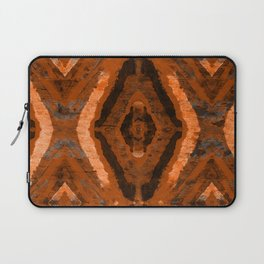 Abstract geometric pattern. Rhombus texture in brown colore Laptop Sleeve