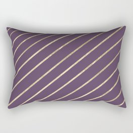 Elegant faux gold purple modern geometrical Rectangular Pillow