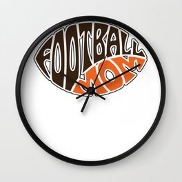 Football Mom designs for women Mother's Day gift idea Wall Clock