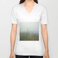 battlefield V-neck T-shirts featuring Yellow Wild Flowers, Agincourt Battlefield by Susan in Paris
