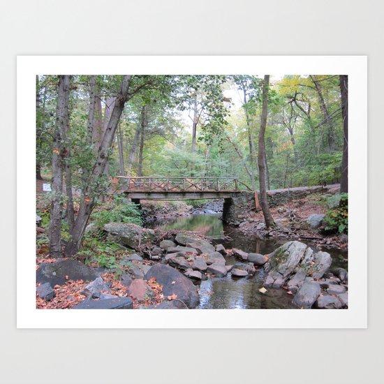 Headless Horseman Bridge, Sleepy Hollow, New York Art Print