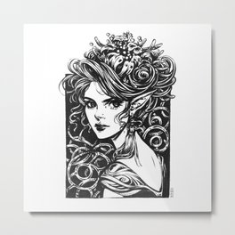 Elven Princess Metal Print