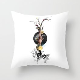 BARK (Totem of the Wolf) Throw Pillow