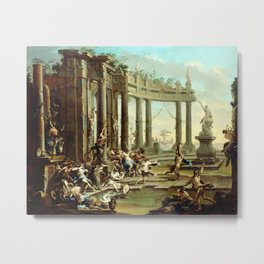 Alessandro Magnasco Bacchanale Metal Print