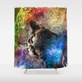 Interlacing Fabric of Light Shower Curtain