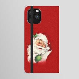 Vintage Santa iPhone Wallet Case