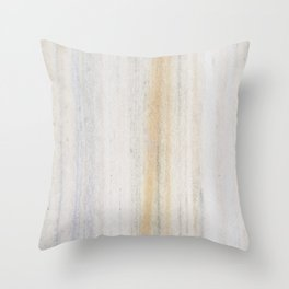 Rustic gray gold yellow vintage white marble Throw Pillow