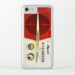My Grand Father Classic Old vintage Radio Clear iPhone Case