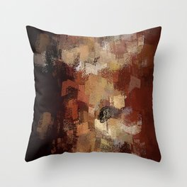 Earthly Eruption Throw Pillow