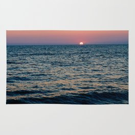 Dreamy Pastel Cape May Sunset Rug