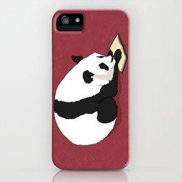 Reading Panda iPhone Case