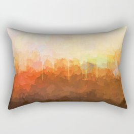 Charlotte. NC Skyline - In the Clouds Rectangular Pillow
