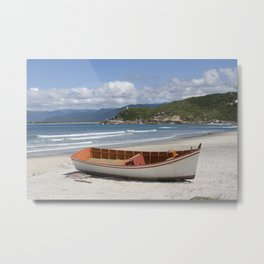 Boat on a Beach in Brazil Metal Print