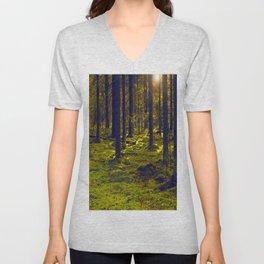 Green Forest #decor #society6 Unisex V-Neck