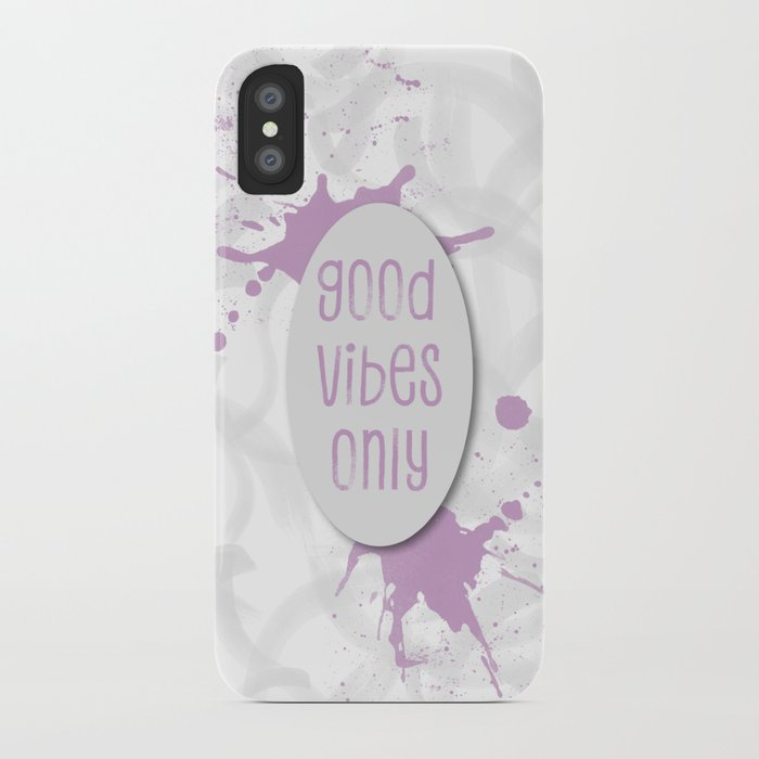 TEXT ART Good vibes only | pink iPhone Case