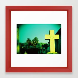 San Jose Mission Cemetary Framed Art Print