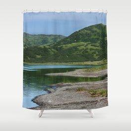 Green Mountain Photography Print Shower Curtain