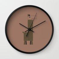 llama Wall Clocks featuring Llama by AWOwens