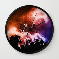 u2 Wall Clocks featuring U2 / Adam Clayton / The Edge by JR van Kampen