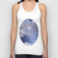 bible verses Tank Tops featuring Seagull with Matthew 6:26-26 Verses by Photos and Images by Corri