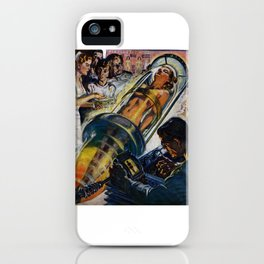 Vintage Sci-Fi (Science Fiction) Illustration iPhone Case