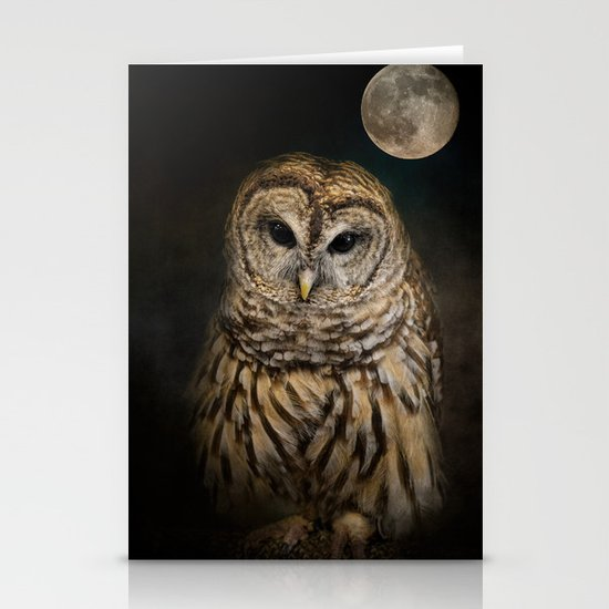 Barred Owl and the Moon by jaijohnson