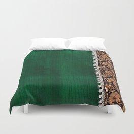 -A11- Tradtional Textile Moroccan Green Artwork. Duvet Cover