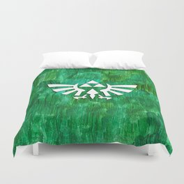 Zelda Triforce Painting Duvet Cover