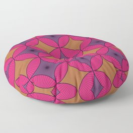 Purple and Pink Vintage Circles Floor Pillow