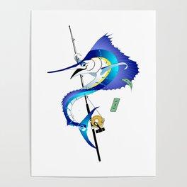 Sailfish Pole Dancer Poster