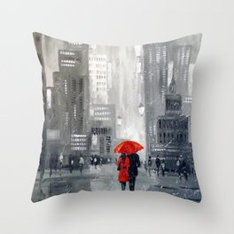 Together in new York Throw Pillow