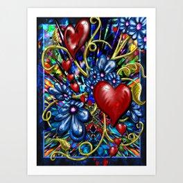 """""""Incense, Hearts, & Daisies"""" Art Print"""
