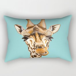 Giraffe Acrylic Painting Rectangular Pillow