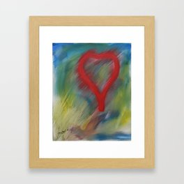 A full heart Framed Art Print