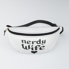 nerdy wife geek married couple gift Fanny Pack