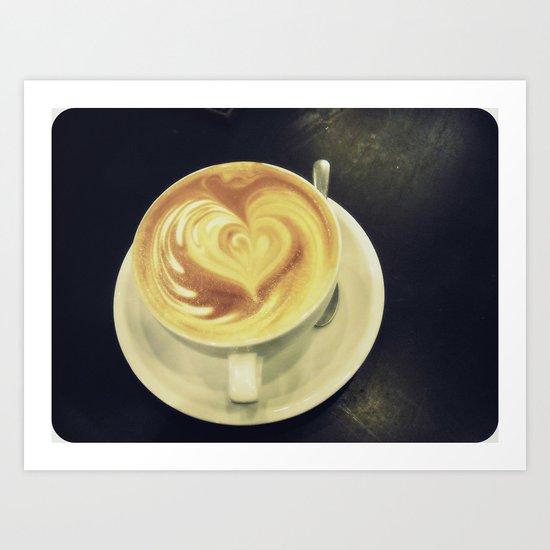 Latte Love ~ coffee Art Print