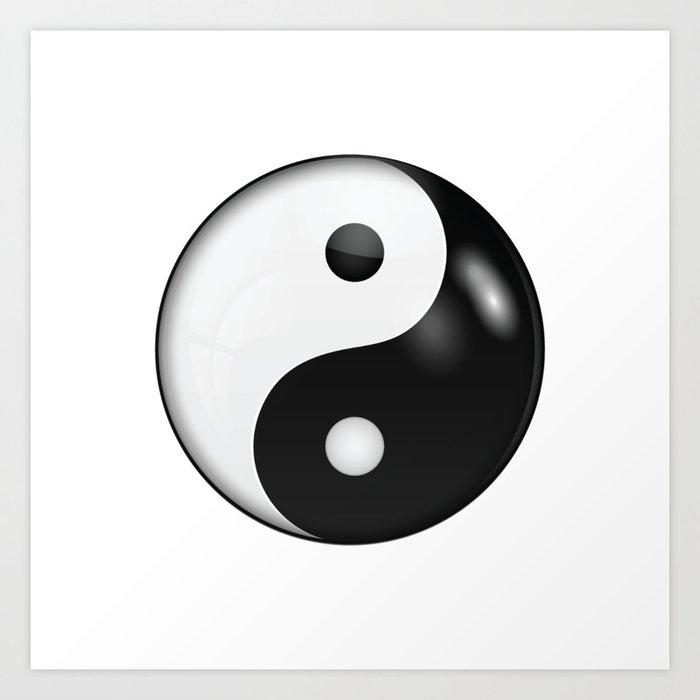 Yin Yang Symbol Of Harmony And Balance Art Print By Natalieartshop