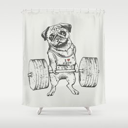 Pug Lift Shower Curtain