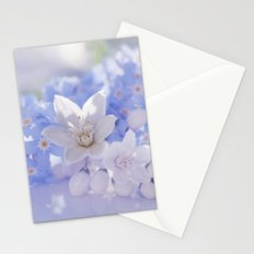 Queen and court- Springflowers in blue and white - Stilllife Stationery Cards