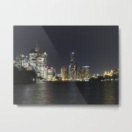Brisbane by night Metal Print