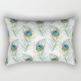 Peacock Tail Feather – Watercolor Rectangular Pillow