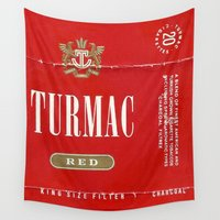 cigarette Wall Tapestries featuring Turmac - Vintage Cigarette by Fernando Vieira