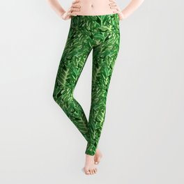 Holly Jolly Leaves (Small Pattern) Leggings