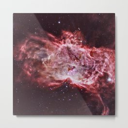 Flame Nebula Metal Print