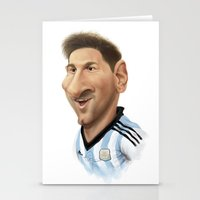 messi Stationery Cards featuring Messi - Argentina by Sant Toscanni
