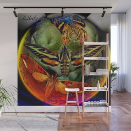 Butterfly Effect Blue Planet Wall Mural